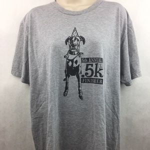 American Apparel Custom Ink Gray T-Shirt Size L